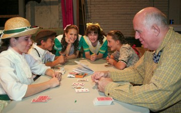 The Schickers play cards